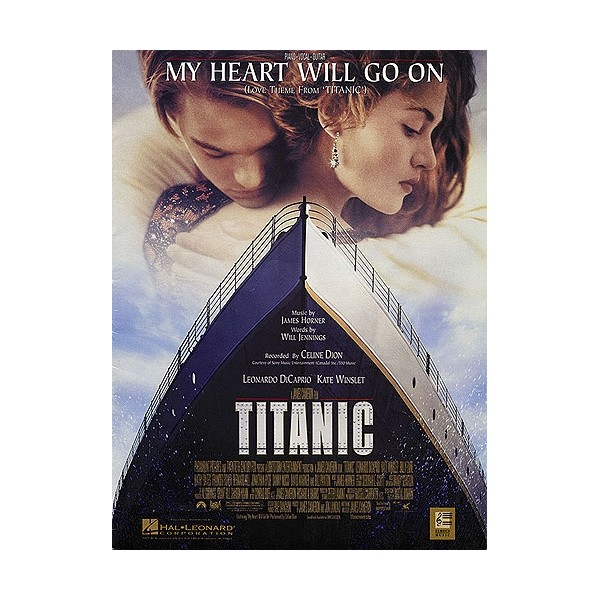 Free Piano Sheet Music For My Heart Will Go On By Celine Dion: Celine Dion: My Heart Will Go On (Love Theme From Titanic) PVG